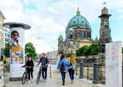 Ganzsäule in Berlin, Evgl. Kirche im Rheinland