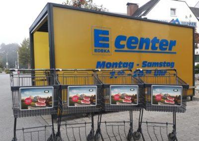 Edeka_Cartboards an Einkaufswagen